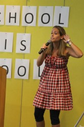 "Ellie performing ""School is Cool"" at Glazer Children's Museum, Tampa"